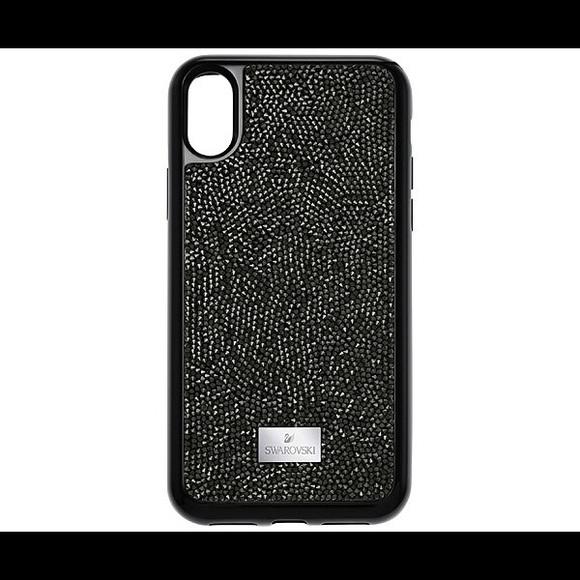 068990fb75a9 Swarovski iPhone X GLAM ROCK CASE BLACK Brand New
